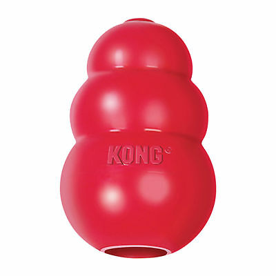 Classic Kong Rubber Red Dog Toy Chew Treat Dispenser - Small Medium Large XL XXL