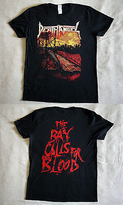 """Death Angel official T-shirt """"The Bay calls for blood"""" black  NEW (S,M,L,XL)"""
