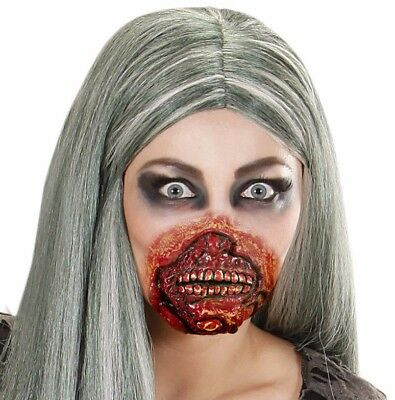 Zombie Mouth Fancy Dress Accessory Fx Halloween Bloody Elastic And Latex