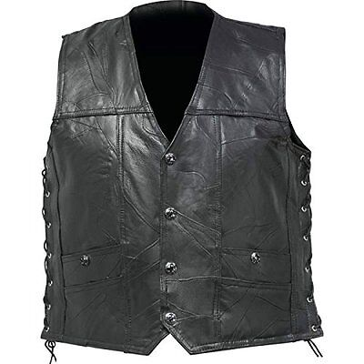 Genuine Buffalo Leather Concealed Carry Vest 2X