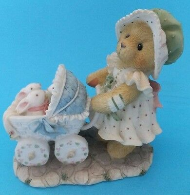 Cherished Teddies Jessica Mother's Heart Is Full Of Love Bunny Buggy Collectable