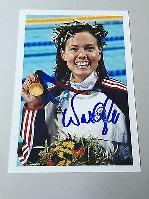 NATALIE COUGHLIN  (USA) OLYMPIA 2004-08/ 3 x 1.  Schwimmen signed Photo 10x14