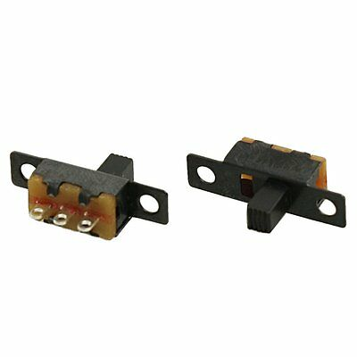 5 Pcs 50V 0.5A 3 Pin 2 Position On/OFF 1P2T SPDT Slide Switch 3 Pin AD