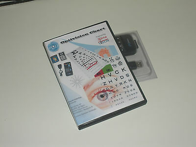 OptivisionChart Visual Acuity with PC Remote Optometry Ophthalmology Snellen