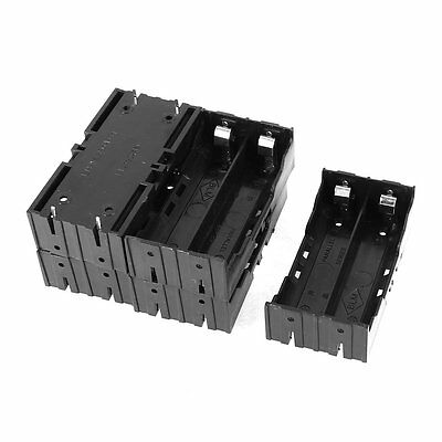 5 Pcs Plastic 2 x 3.7V 18650 Batteries 4 Pin Battery Holder Case AD