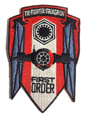 """Star Wars First Order 4"""" TIE Fighter Squadron Logo Patch-FREE S&H(SWPA-FA-08)"""