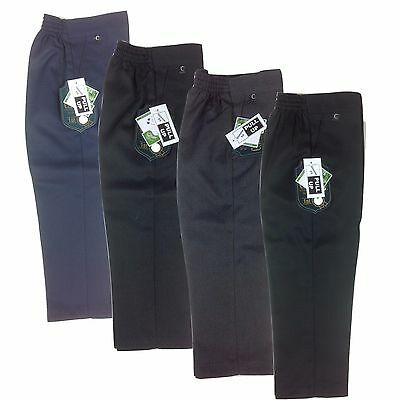 Boys Elasticated Pull Up School Trousers Ages 3-7 years Teflon Formal Pants NEW