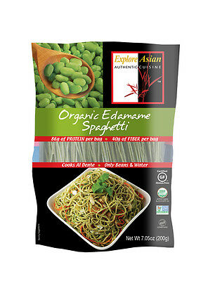 Explore Asian Low Carb Organic Edamame Spaghetti 200 g, High Protein, Low Fat