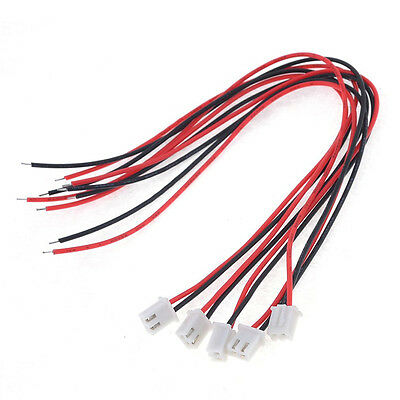 5 Pcs 24AWG JST XH2.54 2 Pin Connector Plug Wire Cable 20cm Length AD