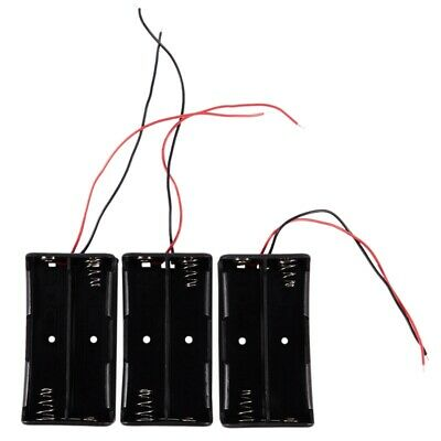 3 Pcs Black Battery Storage Box Holder for 3.7V18650 Batteries AD