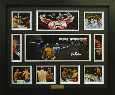 UFC Rampage Jackson Limited Edition Framed *Stock Clearance Sales*