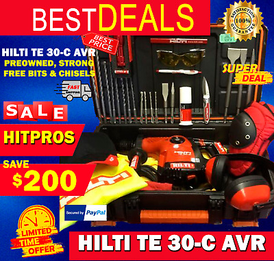 Hilti Te 30-C Avr, L@@k, Preowned, Strong, Free Drills & Chisels, Fast Ship