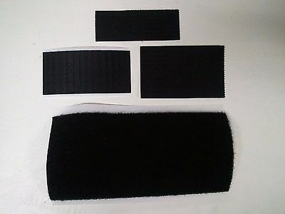 """4"""" Nylon HOOK and/or LOOP Swatches for our Patches or anything VARIOUS WIDTHS"""