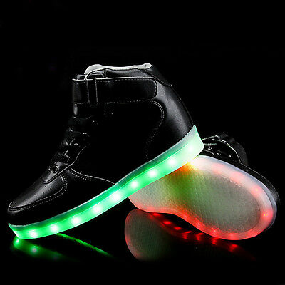 High LED Light Lace Up Unisex Sportswear Sneaker Luminous Casual Shoes trainers