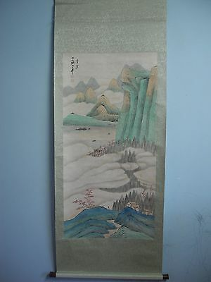 Excellent old Chinese Scroll Painting By Zhang Daqian :landscape J26