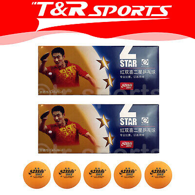 20x DHS 2 Star 40mm Table Tennis Ping Pong Competition Balls Orange Free Postage