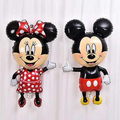 """44 """" Mickey Minnie Mouse Foil Balloons  Birthday Party Decorations Bady Shower"""