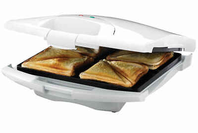 Tiffany 4 Slice Sandwich Maker Press Toaster/Toast Square Loaf Bread Deep Dish