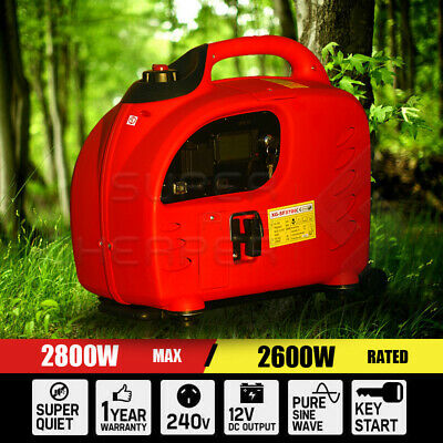 Digital  2.8KW Max 2.6KW Rated Camping Portable Inverter Generator