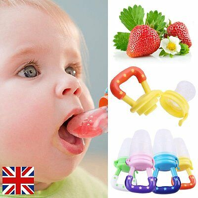 UK Baby Feeding Pacifier Fresh Food Fruits Feeder Dummy Soother Weaning Nipple