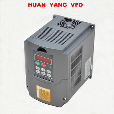 Huan Yang 4KW 5HP Variable Frequency Drive VFD 3 Phase Single Speed 220V-250V