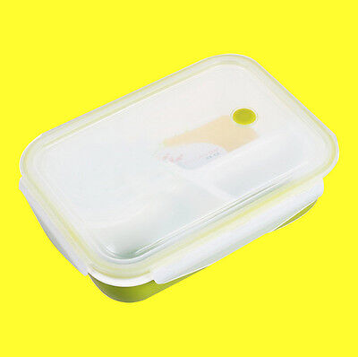 Lunch Bento Box Leakproof Rectangular ,Microwave SAFE Food Container 4 separate