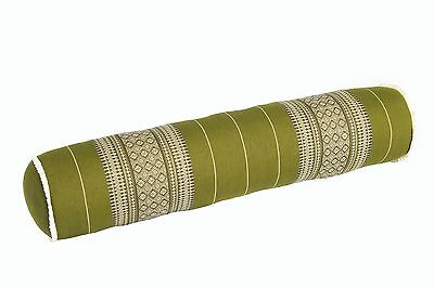 Yoga Bolster 80x20 Neck cushion roll pillow green thaicushion kapok massage