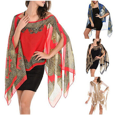 Women Chiffon Sunscreen Summer Long Soft Scarf Scarves Shawl Wrap Stole Scarves