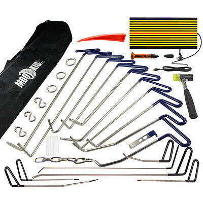 16Pcs PDR Dent Puller Repair Rods Tool Paintless Removal Ding Hail Damage Kit UK