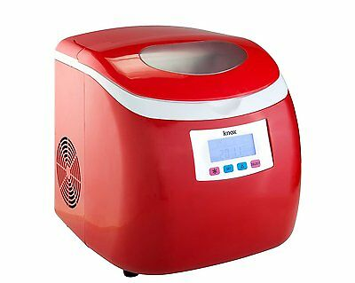 Knox Compact Ice maker (27 Lbs in 24 Hrs) - Red Color {KN-IM27R} Modern HVI New