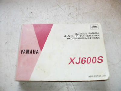 Yamaha XJ600S Owners Manual. 4BR-28199-AO