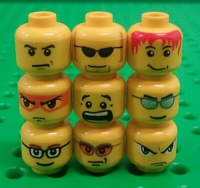 2 pieces *NEW* Lego Stubble Faces Heads Messy Hair for Minifigures Figs Figure