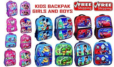 New Large Backpack School Bag Boys Girls Kids Pj Mask Frozen Minion Cars Thomas