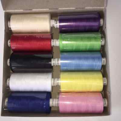 Coats Moon Thread Assorted Box Of 10 Threads - Free postage - Unbeatable value