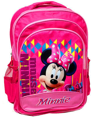 New Large Kids Backpack School Bag Preschool Disney Minnie Mouse Pink Girls Gift