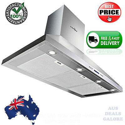 120cm Commercial Rangehood Stainless Kitchen Canopy BBQ Exhaust Fan Range Hood