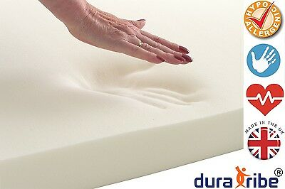 DuraTribe Orthopaedic 100% Memory Foam Mattress Toppers | All Sizes & Depths