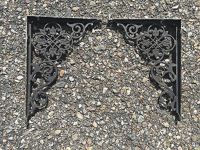 Small Antique Shelf Brackets Victorian Decorative Floral Ornate 7x5""