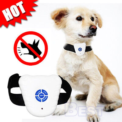 Ultrasonic Anti Barking Control Pet Dog Training Collar Bark Stop Waterproof AU