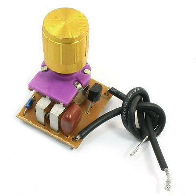Table Lamp Full Range Dimmer Gold Tone Rotary Switch 2 Wire Connector AD