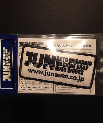 Authentic JUN Auto Mechanic Iron Sew Cloth Patch For Work Or Race Shirt