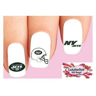 Waterslide Nail Decals Set Of 20 New York Jets Football Orted