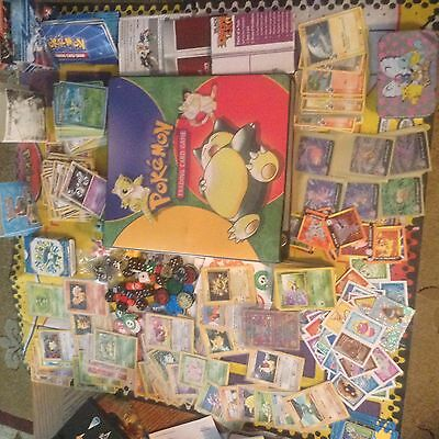 HUGE lot original pokemon, cards; base set SHADOWLESS first edition, ANCIENT MEW