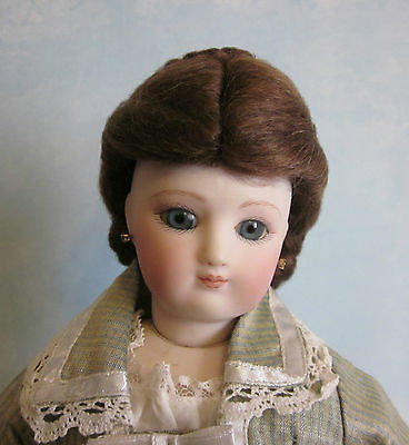 1870 Blonde or Brown French Fashion doll mohair wig Size 4 1/4