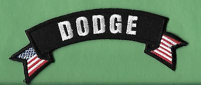 """New Dodge  'Badge''  1 1/2 X 5"""" Inch  Iron on Patch Free Shipping"""