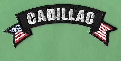 "New Cadillac  'Badge''  1 1/2 X 5"" Inch  Iron on Patch Free Shipping"