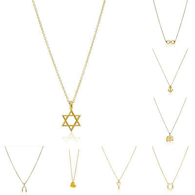 Elephant Anchor Heart Gold Plated Cute Star Of David Knot Key Pendant Necklaces