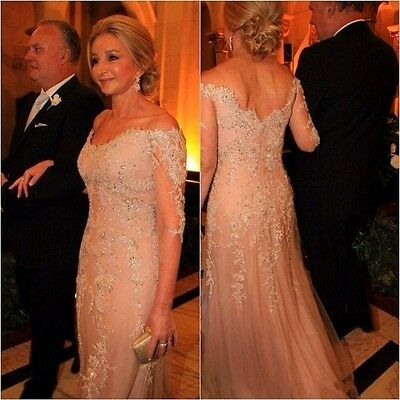 New Elegant Lace Mother Of The Bride Dress Long Wedding Evening Gown Custom Made