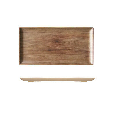 Melamine Wood-Look Board with Lip 250x150mm Ryner Catering Timber Style Tray