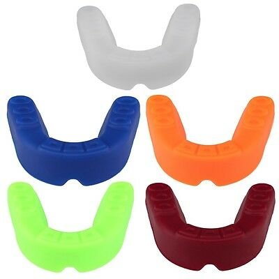 Adult Sports Mouth Guard Gum Shield Grinding Teeth Protect For Boxing NEW DP